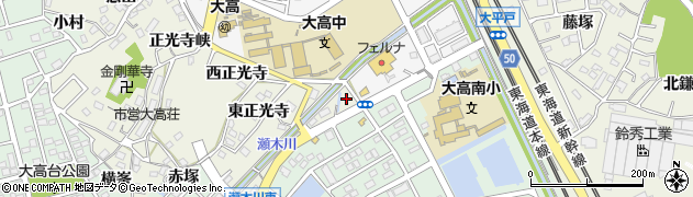 愛知県名古屋市緑区大高町(上瀬木川東)周辺の地図