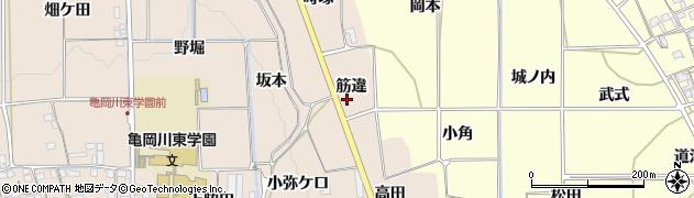 京都府亀岡市馬路町(筋違)周辺の地図