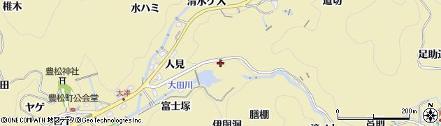 愛知県豊田市豊松町(滝ノ口)周辺の地図