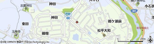 愛知県豊田市巴町(カキタ)周辺の地図