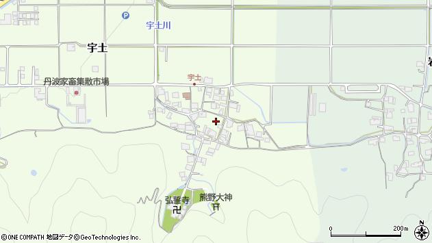 〒669-2455 兵庫県丹波篠山市宇土の地図