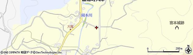 千葉県南房総市富浦町大津周辺の地図