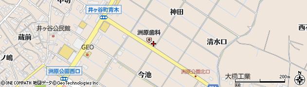 愛知県刈谷市井ケ谷町(神田)周辺の地図