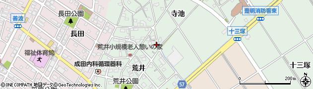 愛知県豊明市沓掛町(荒井)周辺の地図
