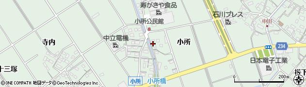 愛知県豊明市沓掛町(小所)周辺の地図