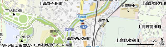 京都府京都市左京区上高野山ノ橋町周辺の地図