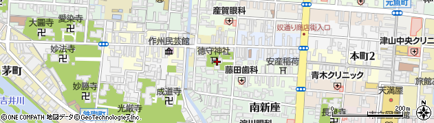 徳守神社周辺の地図