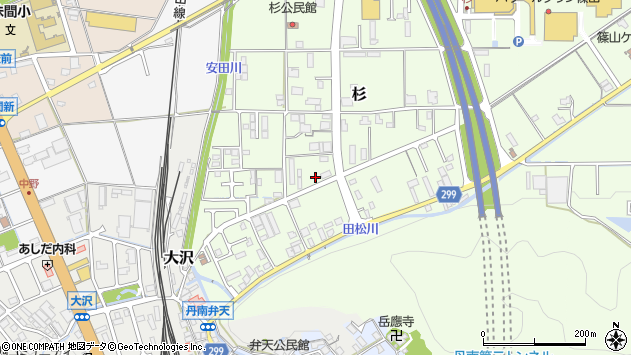 〒669-2204 兵庫県丹波篠山市杉の地図