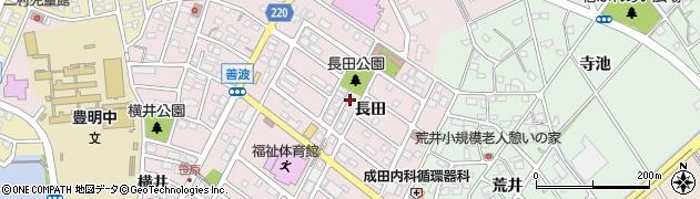 愛知県豊明市西川町(長田)周辺の地図