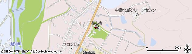 徹心寺周辺の地図