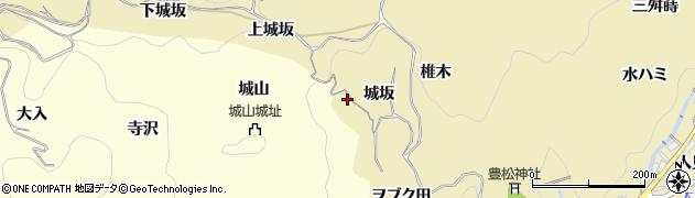 愛知県豊田市豊松町(城坂)周辺の地図