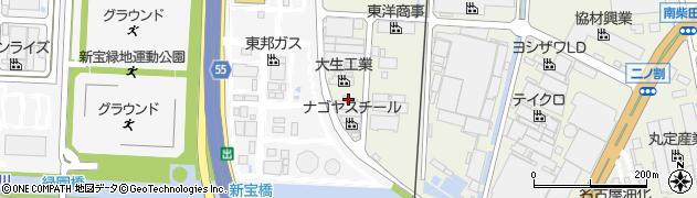 愛知県東海市南柴田町(ヲノ割)周辺の地図