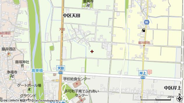 〒679-1115 兵庫県多可郡多可町中区天田の地図