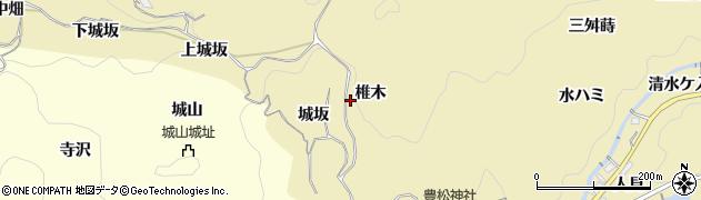 愛知県豊田市豊松町(椎木)周辺の地図