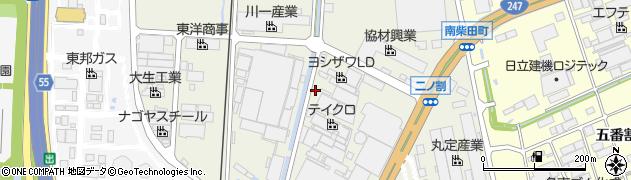 愛知県東海市南柴田町(トノ割)周辺の地図