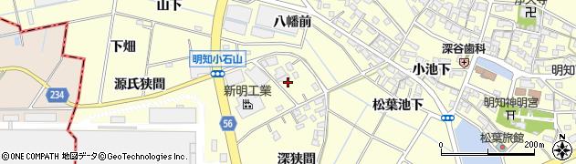 愛知県みよし市明知町(小石山)周辺の地図
