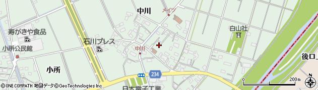 愛知県豊明市沓掛町(中川)周辺の地図