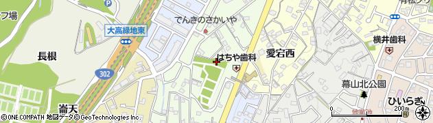 愛知県名古屋市緑区有松愛宕周辺の地図