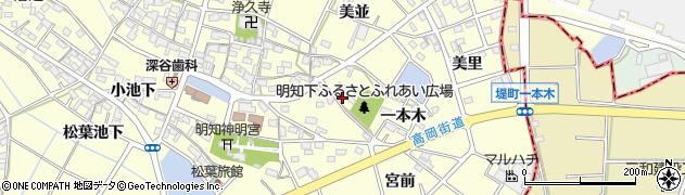 愛知県みよし市明知町(二本木)周辺の地図
