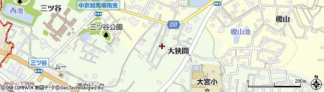 愛知県豊明市前後町(大狭間)周辺の地図