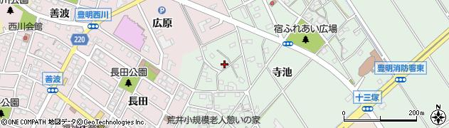 愛知県豊明市沓掛町(寺池)周辺の地図