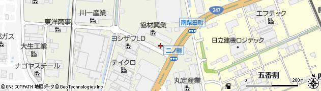 愛知県東海市南柴田町(ニノ割)周辺の地図