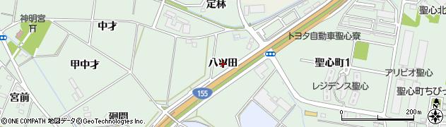 愛知県豊田市上丘町(八ツ田)周辺の地図