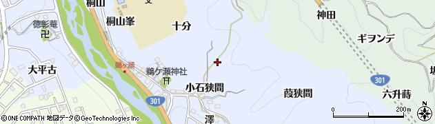 愛知県豊田市鵜ケ瀬町(小石狭間)周辺の地図