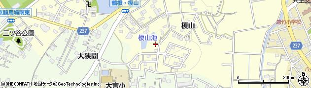 愛知県豊明市間米町(榎山)周辺の地図
