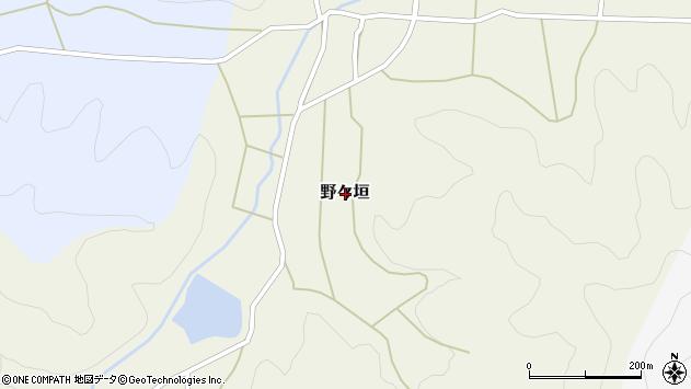 〒669-2445 兵庫県丹波篠山市野々垣の地図