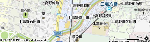 京都府京都市左京区上高野野上町周辺の地図