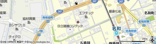 愛知県東海市名和町(三番割下)周辺の地図
