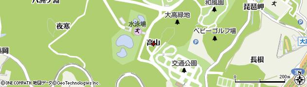 愛知県名古屋市緑区大高町(高山)周辺の地図