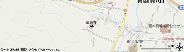 曹源寺周辺の地図