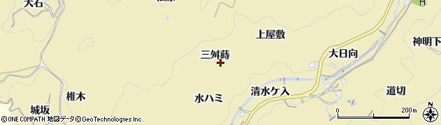 愛知県豊田市豊松町(三舛蒔)周辺の地図