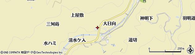 愛知県豊田市豊松町(大日向)周辺の地図