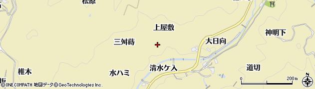 愛知県豊田市豊松町(上屋敷)周辺の地図