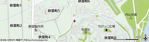 愛知県豊田市秋葉町周辺の地図