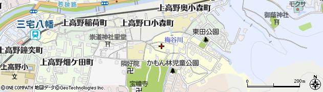 京都府京都市左京区上高野奥東野町周辺の地図