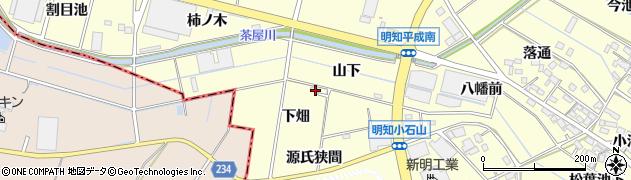 愛知県みよし市明知町(下畑)周辺の地図