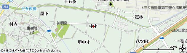 愛知県豊田市上丘町(中才)周辺の地図
