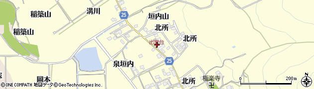 京都府亀岡市千歳町千歳(垣内山)周辺の地図