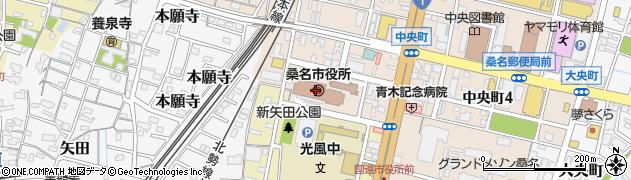 三重県桑名市周辺の地図