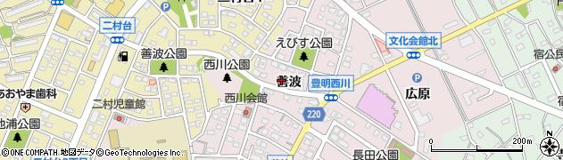 愛知県豊明市西川町(善波)周辺の地図