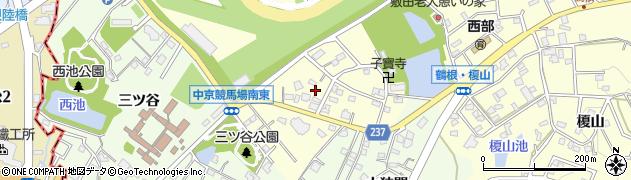 愛知県豊明市間米町(敷田)周辺の地図