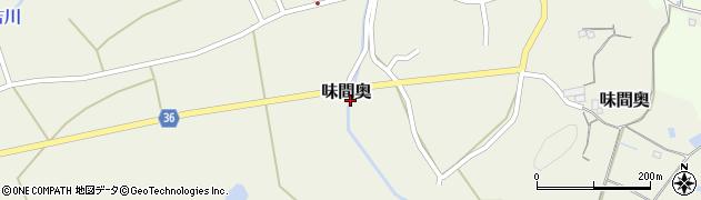 兵庫県丹波篠山市味間奥周辺の地図