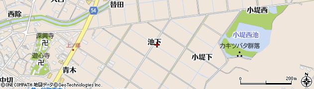 愛知県刈谷市井ケ谷町(池下)周辺の地図