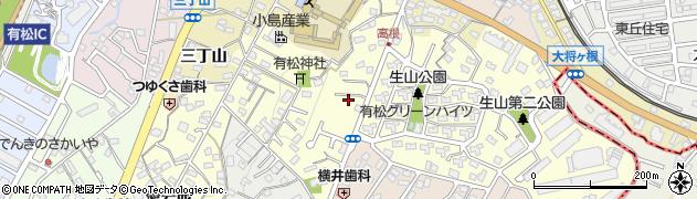 愛知県名古屋市緑区有松町大字桶狭間周辺の地図
