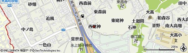 愛知県名古屋市緑区大高町(西姥神)周辺の地図