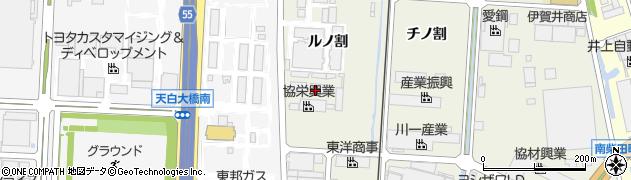 愛知県東海市南柴田町(ルノ割)周辺の地図